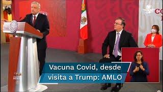 El Presidente Andrés Manuel López Obrador relató cómo se enteró del cierre del acuerdo con Argentina para la elaboración de la vacuna