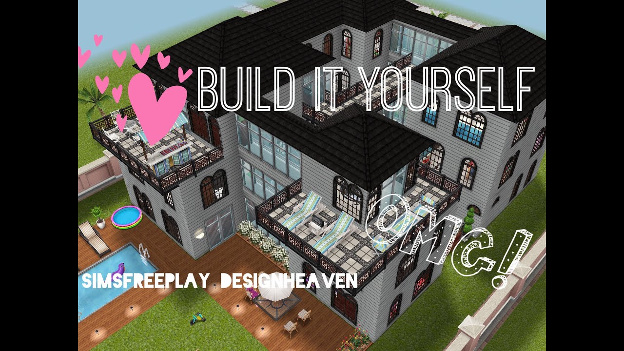 Sims freeplay build it yourself family mansion youtube for Sims house plans free