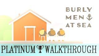 Burly Men At Sea Platinum Walkthrough - Trophy Guide - All Endings