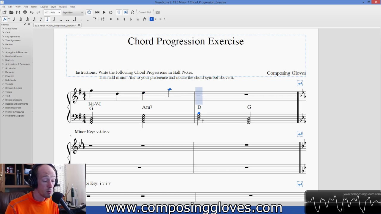 Harmony 1 195 minor 7 chord progression exercise youtube harmony 1 195 minor 7 chord progression exercise hexwebz Gallery