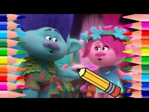 Coloring Pages TROLLS How to Draw and Color Dreamworks Trolls with Colored Markers