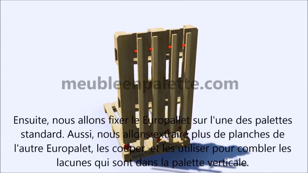 instructions sur la fa on de faire une jardini re avec des palettes youtube. Black Bedroom Furniture Sets. Home Design Ideas