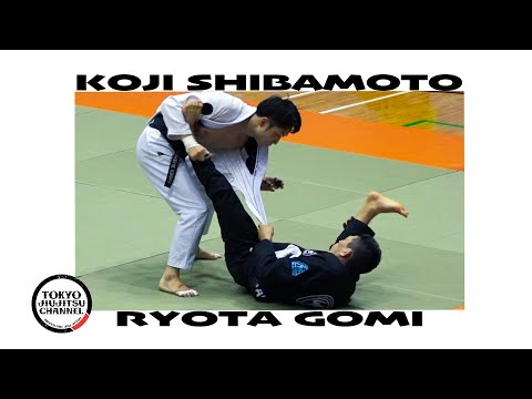 Koji Shibamoto & Ryota Gomi SJJJF 3RD ALLJAPAN JIUJITSU 2020 Black Adult Light Feather Semifinal