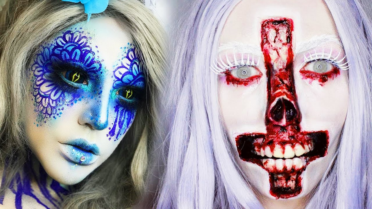 Best DIY Weird Halloween Makeup IDEAS & Tutorials for 2018 | TOP