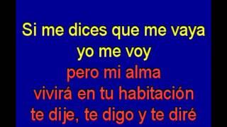 Te Quise Te Quiero Y Te Querre -   Manolo Galvan -  karaoke   Tony Ginzo