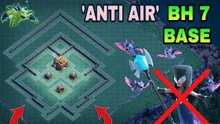 BH 7 ANTI NIGHT WITCH BEST BASE LAYOUT | BUILDER HALL 7 ANTI AIR BASE WITH REPLAY | CLASH OF CLANS