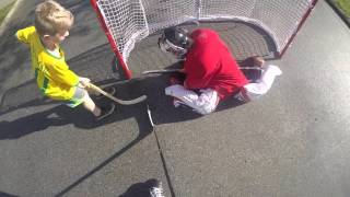 Roller Hockey With the Neighbourhood kids