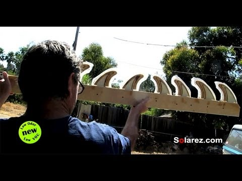 How to Fiberglass Wood Fins Using NEW Solarez Low Odor Low VOC UV Resin