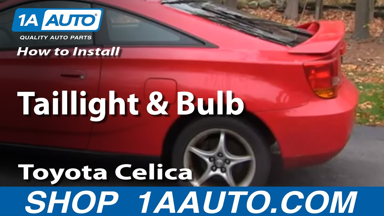 how to replace taillights and bulbs 00 05 toyota celica [ 1280 x 720 Pixel ]