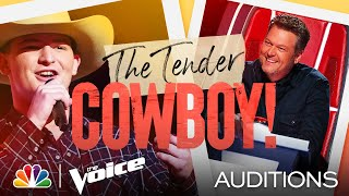 "Ethan Lively's So Country on George Strait's ""You Look So Good in Love"" - Voice Blind Auditions 2021"