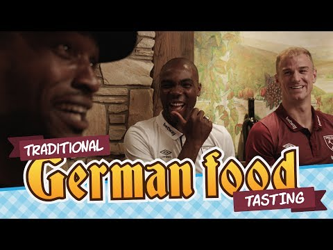 Stevo the Madman lays on a traditional German feast for West Ham stars Hart, Ogbonna and Adrian