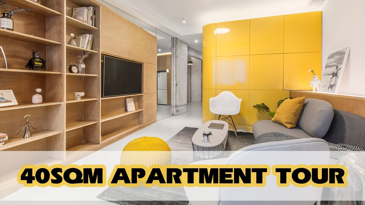 Small Apartment Tour 40sqm House With Several Function Boxes Youtube