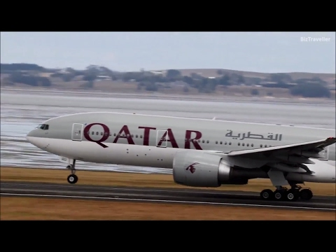 [HD Longest Flight] Qatar B777-200(LR) departure from Auckland to Doha