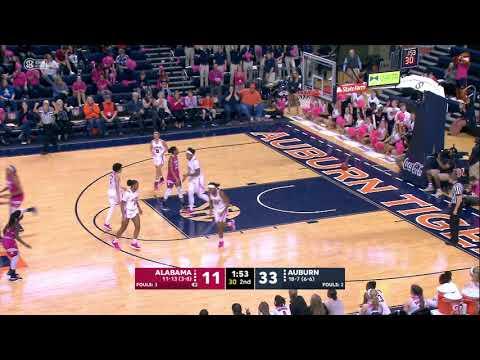 Auburn University Sports - Auburn Women's Basketball vs Alabama Highlights