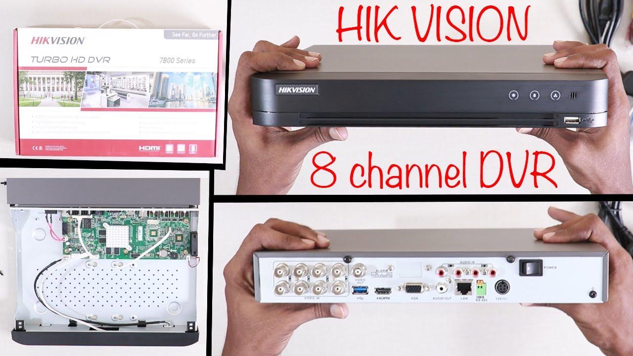 Hik Vision 8 Channel DVR 7B00 series Unboxing (Model : DS-7B08HUHI-K1)