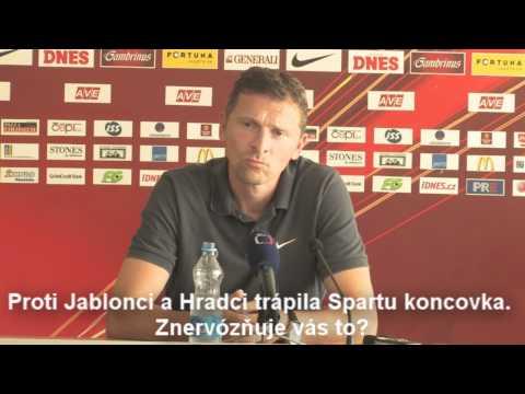 Martin Hašek před utkáním s FC Vaslui