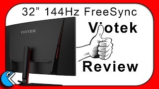 32 inch curved wide monitor with 144hz and 4ms viotek gn32c review cruncher technology