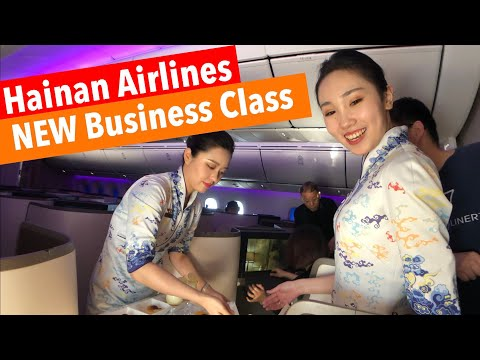 IMPRESSED   HAINAN Airlines NEW B787-9 BUSINESS Class (HU7704 Shenzhen to Beijing)