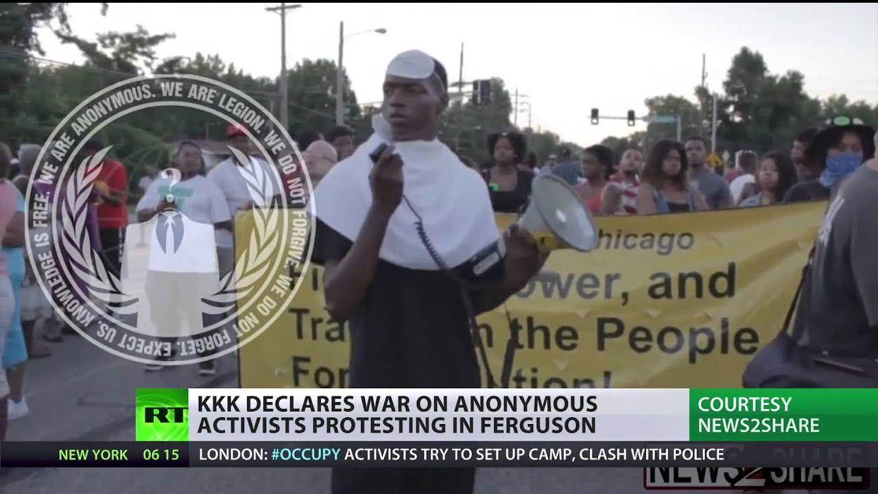 KKK declares war on Anonymous activists protesting in Ferguson
