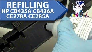 How to Refill HP CB540A / CB541A / CB542A / CB543A / CC530A / CC531A / CC532A / CC533A