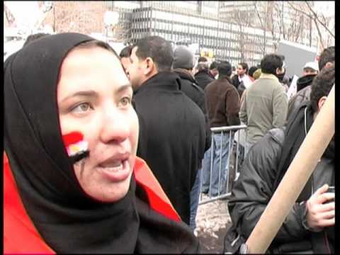 Solidarity with Egypt - interviews at the UN - NYC 1/29/11