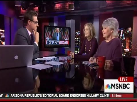 "Robin Morgan & Gloria Steinem on MSNBC's ""All in with Chris Hayes"""