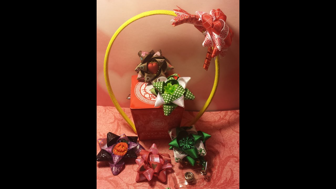 Satin Ribbon Gift Bow Hair Clip