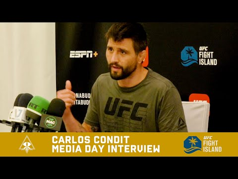 UFC FIGHT ISLAND - CARLOS CONDIT MEDIA DAY INTERVIEW