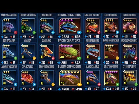 Mosasaurus Tournament - 21 Different Dinos - Jurassic World The Game streaming vf