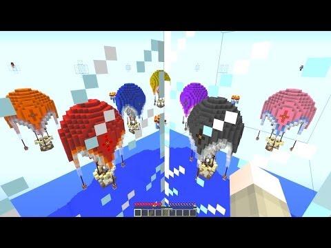 Minecraft: NEW Sky Wars! Hot Air Balloon Battle! Mini-Game w/Mitch & Friends!