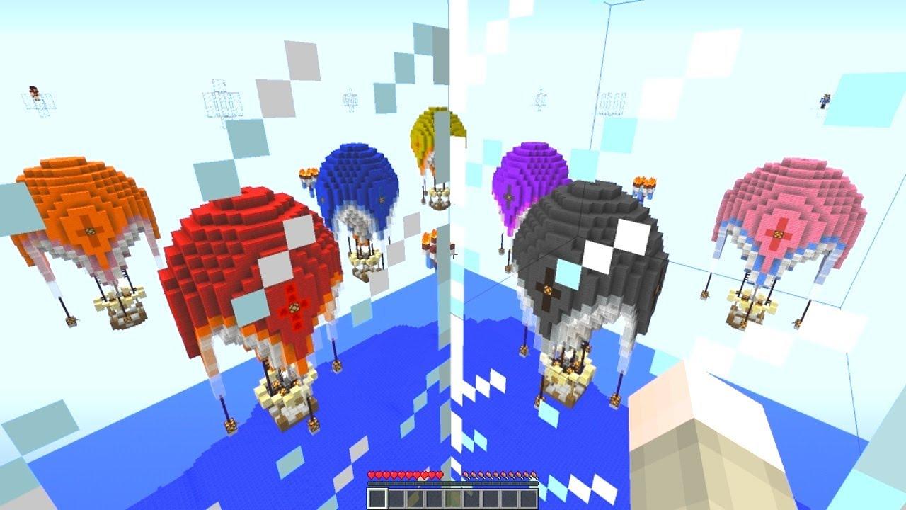 New video minecraft new sky wars hot air balloon battle for Air balloon games