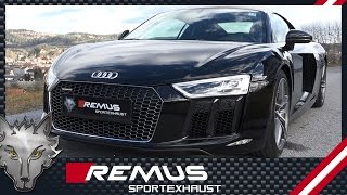Audi R8 type 4S V10 plus 5,2 FSI with REMUS axle-back system