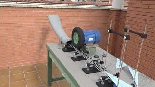Paper airplane launcher machine.