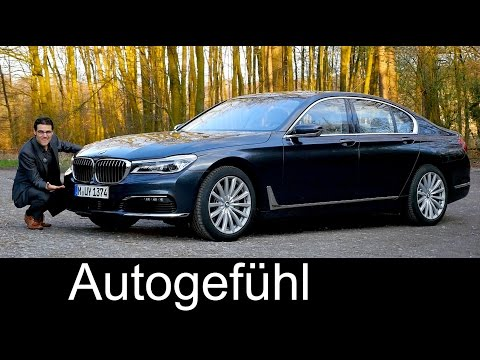 BMW 7-Series 7er FULL REVIEW test driven 740i all-new neu G11 2016/2017 with Autobahn