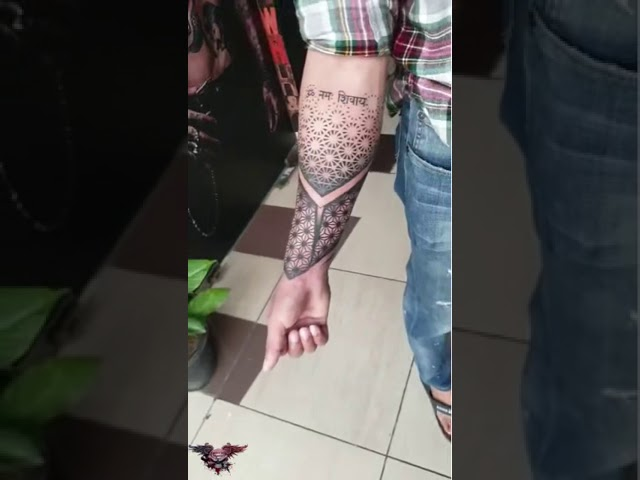GEOMETRICAL PATTERN TATTOO | FORARM |PERMANENT TATTOO | BEST TATTOO IN INDIA | NEW TATTOO DESIGN |