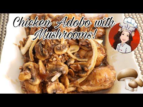 Chicken Adobo With Mushrooms!