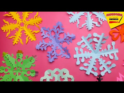 How To Make Easy Simple Paper Snow Flakes | Tutorial | Awesome Art And Crafts