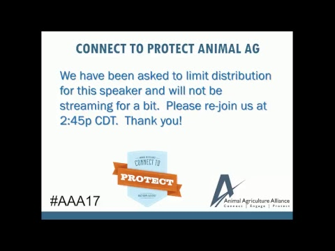 Animal Agriculture Alliance, May 3rd AM Live Stream