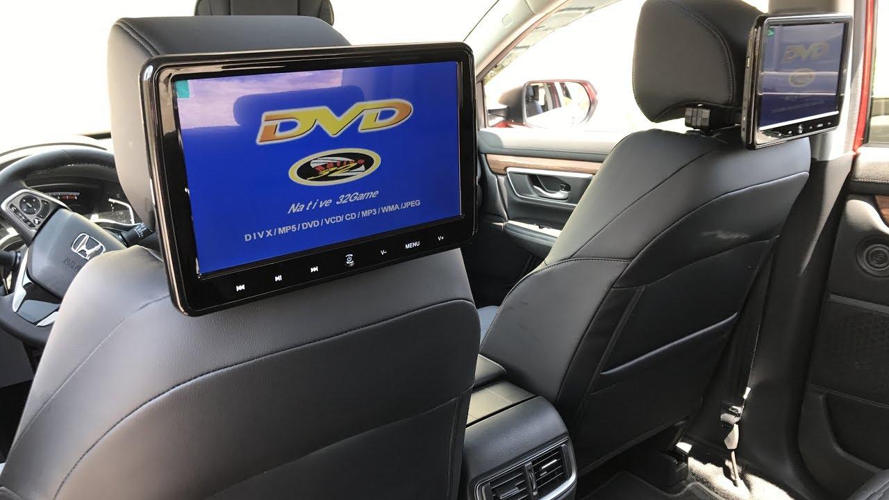 Honda Accord Sport >> 2017 Honda CRV - Headrest DVD Players - YouTube