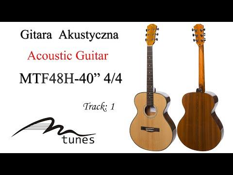 "Acoustic guitar 4/4 40"" M-tunes MTF48H video"