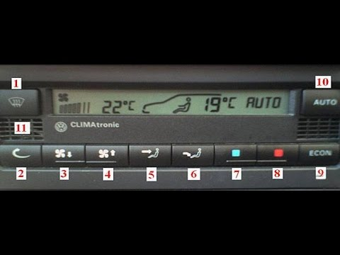 VW Climatronic system - how to diagnose a problem with climatronic