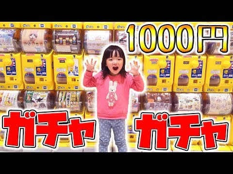 ガチャガチャ1000円分 3歳のまーちゃんが選ぶガシャポンとは? まさかの予言的中!?