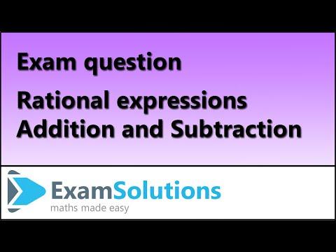 A-Level Edexcel C3 January 2010 Q1 : ExamSolutions