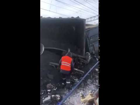 30 вагонов с углём сошли в Иркутской области