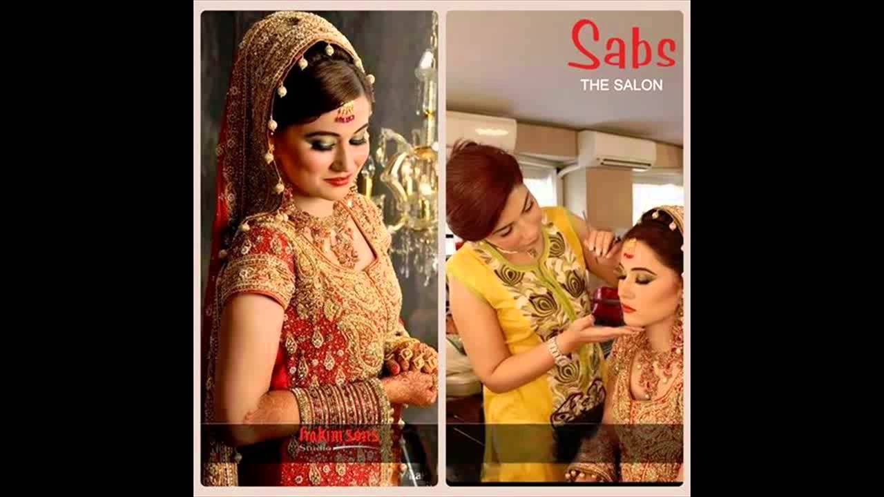 Mehndi Makeup Karachi : Bridal make over collection by sabs beauty salon youtube