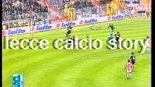 """Servizio """"la domenica sportiva""""05/04/1998 - vicenza, stadio """"romeo menti""""vicenza-lecce 1-3marcatori: 30' pt palmieri, 10' st 44' luiso, 50' p..."""