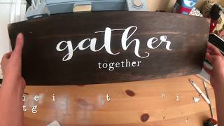 DIY Painted Wood Sign Using a Vinyl Stencil and Your Cricut!