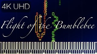 Flight of the Bumblebee [4K HD] // RACHMANINOFF [Piano Tutorial] (Synthesia)