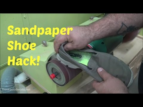 How to clean sandpaper using an old shoe!