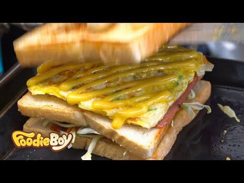 Ham&Cheese Toast /  Korean Street Food / Seomun Market, Daegu Korea